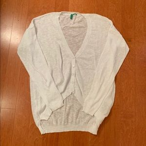 white cardigan from united colors of benetton